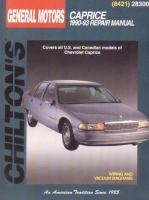Chilton's Chevrolet Caprice