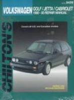 Chilton's Volkswagen Golf, Jetta, Cabriolet Repair Manual