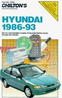 Chilton's Hyundai