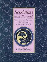 Sashiko and Beyond