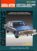 Chilton's General Motors Chevy Full-size Cars, 1979-89 Repair Manual