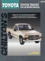 Chilton's Toyota Trucks, 1970-88 Repair Manual
