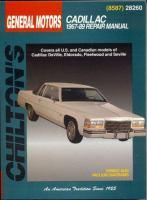 Chilton's General Motors Cadillac 1967-89 Repair Manual