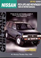 Chilton's Nissan Pick-ups and Pathfinder, 1989-95, Repair Manual