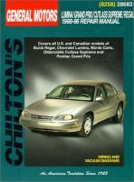 GM Lumina/Grand Prix/Cutlass Supreme/Regal 1988-96 Repair Manual