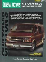 Chilton's General Motors Full-size Vans