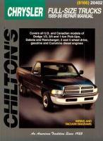 Chilton's Chrysler Dodge/Plymouth Trucks 1989-96 Repair Manual