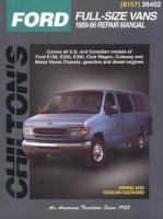 Chilton's Ford Full-size Vans 1989-96 Repair Manual