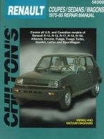 Chilton's Renault Coupes/sedans/wagons