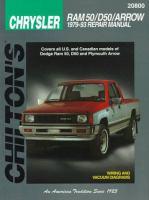 Chilton's Chrysler Ram 50/D50/Arrow 1979-93 Repair Manual