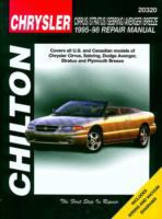 Chilton's Chrysler Cirrus, Stratus, Sebring, Avenger, Breeze, 1995-98 Repair Manual