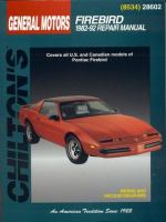 Chilton's General Motors Firebird, 1982-92 Repair Manual