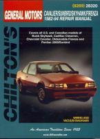Chilton's General Motors Cavalier/Sunbird/Skyhawk/Firenza 1982-94 Repair Manual