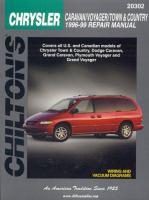 Chilton's Chrysler Caravan/Voyager/Town & Country 1996-99 Repair Manual