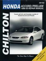 Chilton's Honda Accord/Prelude, 1996-00 Repair Manual