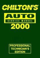 Chilton's Auto Repair Manual, 1996-00
