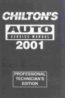 Chilton's Auto Service Manual