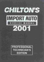 Chilton's Imported Auto Service Manual, 2001