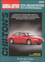Chilton's General Motors Century/Lumina/Grand Prix/Intrigue 1997-00 Repair Manual