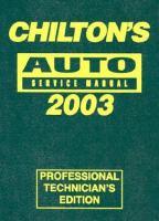 Chilton's Auto Service Manual, 2003 Edition