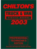 Chilton's Truck & Van Service Manual