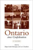 Ontario Since Confederation