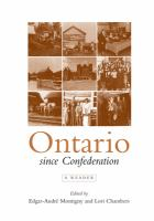 Ontario Since Confederation