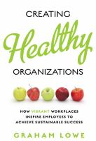 Creating Healthy Organizations