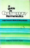 A Guide to Contemporary Hermeneutics