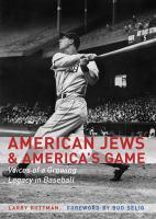 American Jews & America's Game