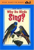 Why Do Birds Sing?