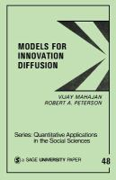 Models for Innovation Diffusion
