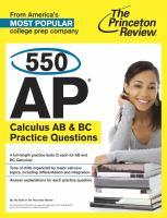 550 AP CalculusAB & BC Practice Questions