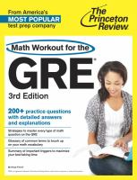Math Workout for the New GRE®
