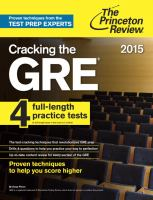 Cracking the GRE