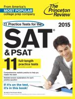 11 Practice Tests for the SAT & PSAT 2015