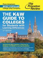 The K & W Guide to Colleges for Students With Learning Differences