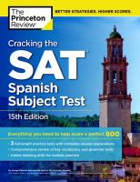 Cracking the SAT Spanish Subject Test