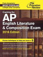 Cracking the AP English Literature & Composition Exam