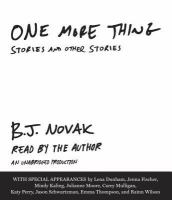 One more thing [audiodisc] : stories and other stories