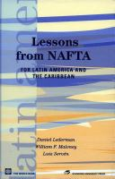Lessons From NAFTA for Latin Ameirca and the Caribbean
