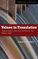 Values in Translation