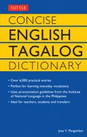 Concise English-Tagalog Dictionary