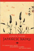 The Japanese Haiku