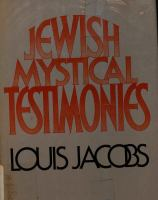 Jewish Mystical Testimonies