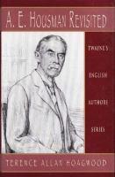 A.E. Housman Revisited