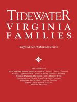 Tidewater Virginia Families