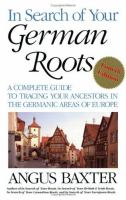 In Search of your German Roots