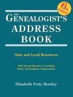 The Genealogist's Address Book
