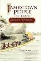 Jamestown people to 1800 : landowners, public officials, minorities, and native leaders